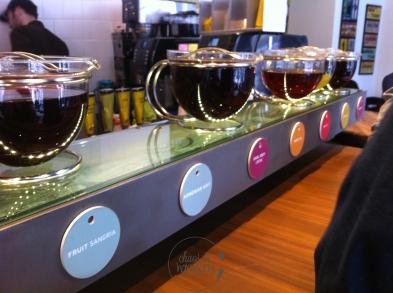 Argo Tea Auswahl