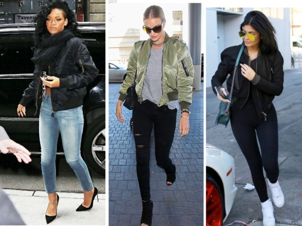 Celebs in Bomber jackets