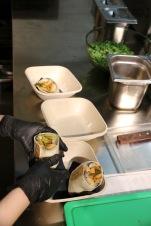 Veggie Burrito in the Making