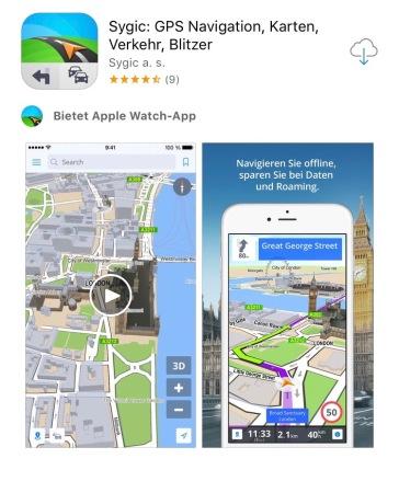 Sygic Reise App