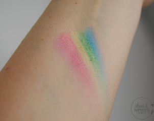 Swatches Regenbogen Highlighter