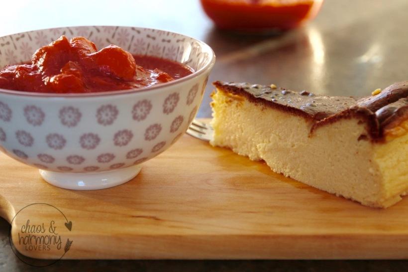 Cheesecake ready to serve