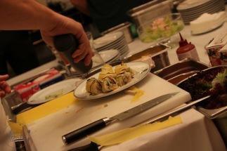 Sushi vom Profi dekoriert
