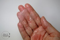 Aloe Vera Eiswürfel geschmolzen