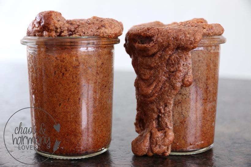 Schoko-Bohnen Kuchen im Glas